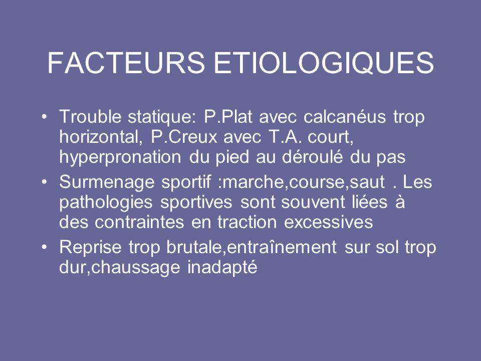 FACTEURS ETIOLOGIQUES