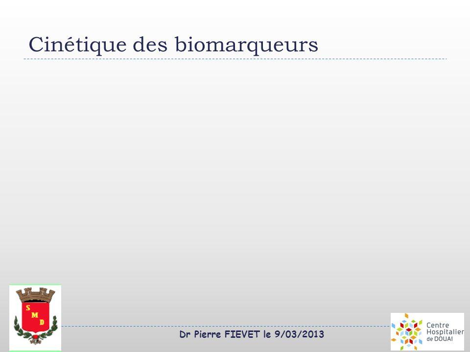 Cinétique des biomarqueurs