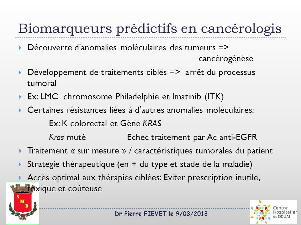 Biomarqueurs prédictifs en cancérologis