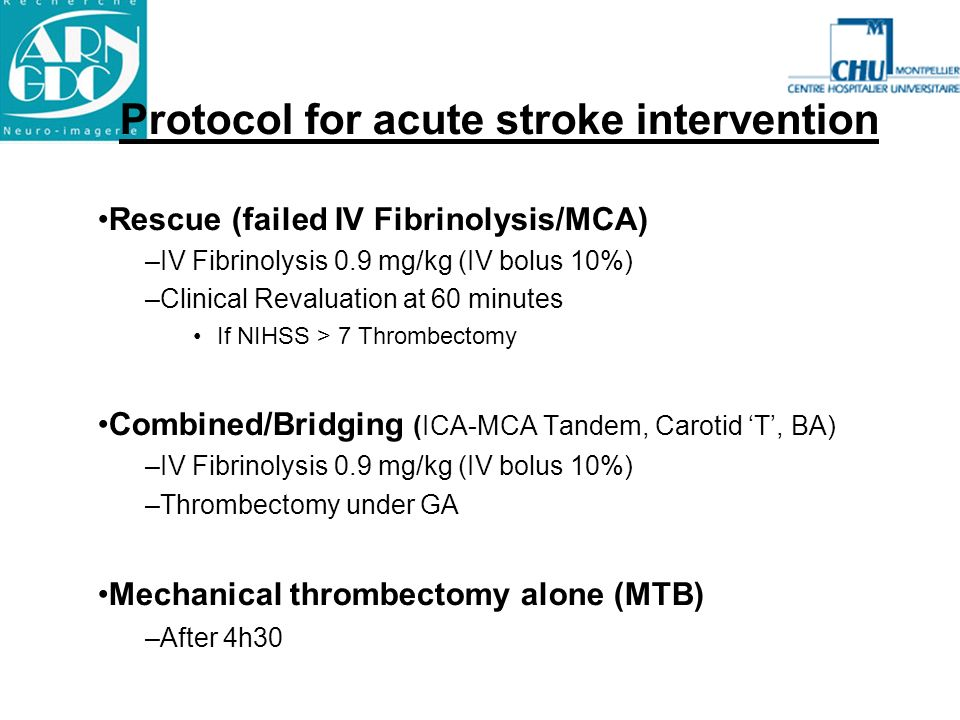 Protocol for acute stroke intervention