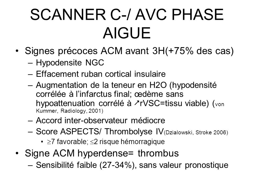 SCANNER C-/ AVC PHASE AIGUE