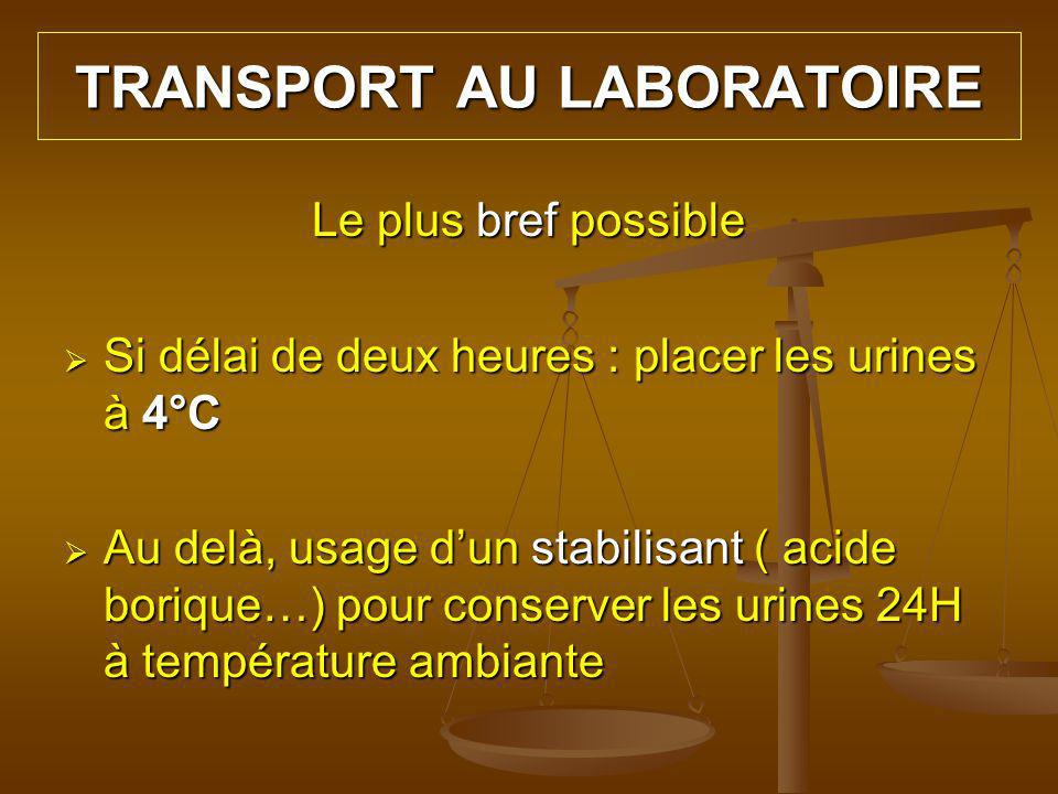 TRANSPORT AU LABORATOIRE