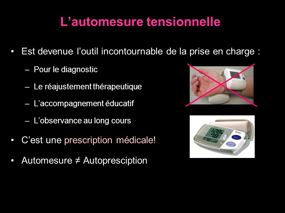 L'automesure tensionnelle