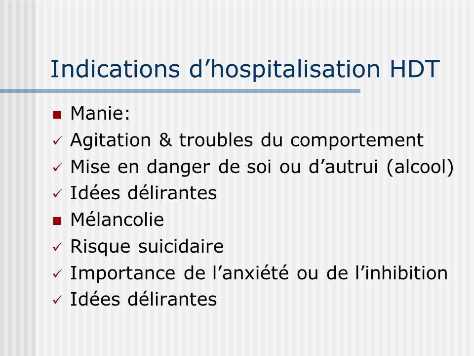 Indications d'hospitalisation HDT