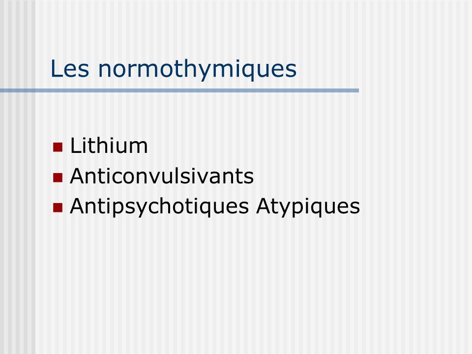 Les normothymiques Lithium Anticonvulsivants