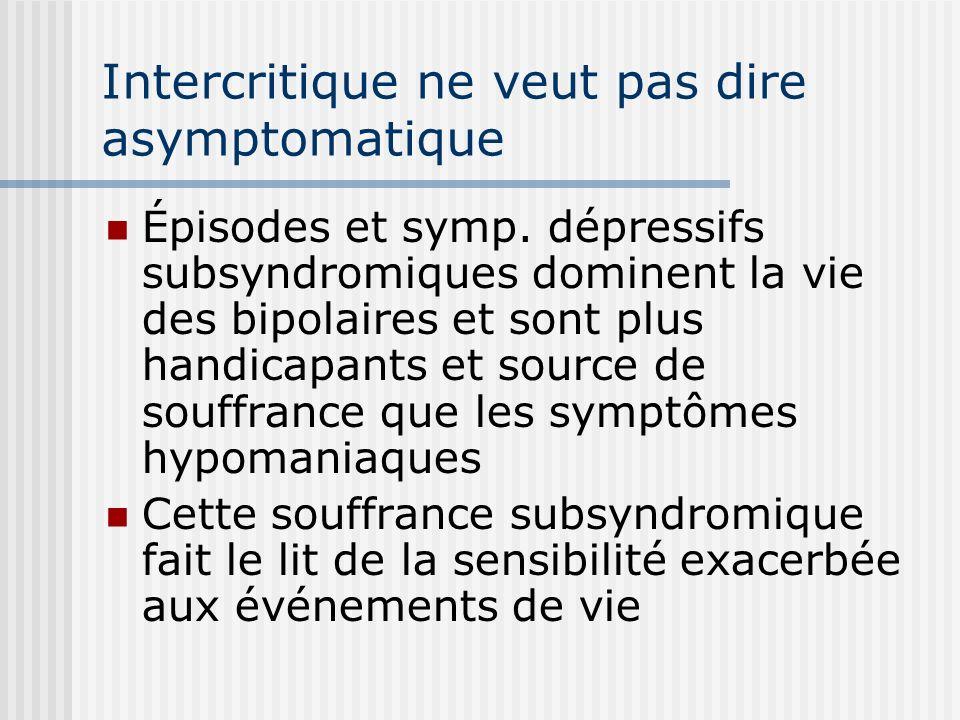 Intercritique ne veut pas dire asymptomatique
