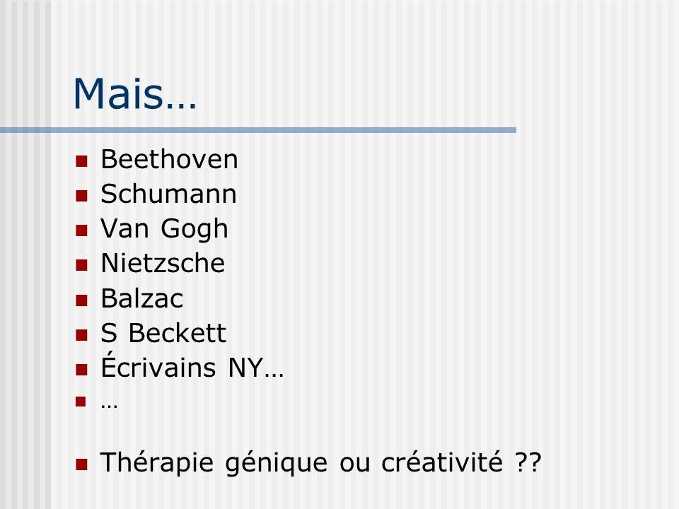 Mais… Beethoven Schumann Van Gogh Nietzsche Balzac S Beckett