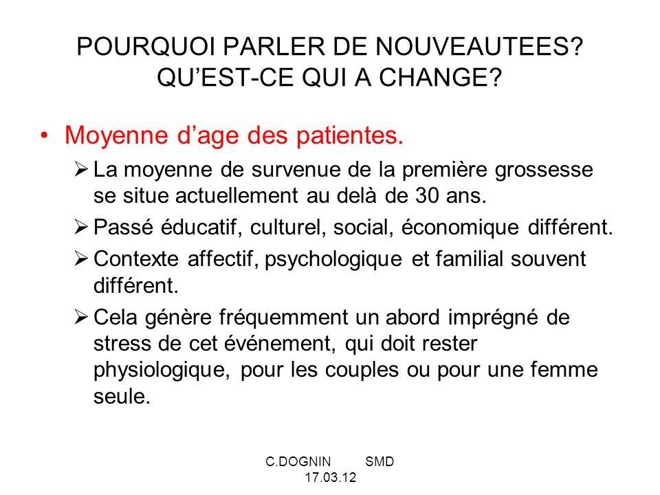 POURQUOI PARLER DE NOUVEAUTEES QU'EST-CE QUI A CHANGE