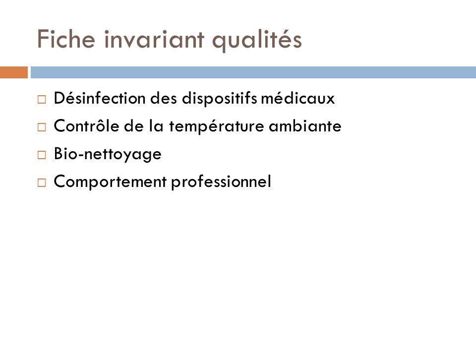Fiche invariant qualités