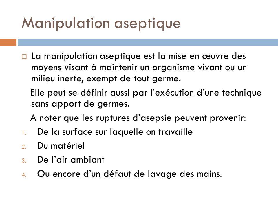 Manipulation aseptique