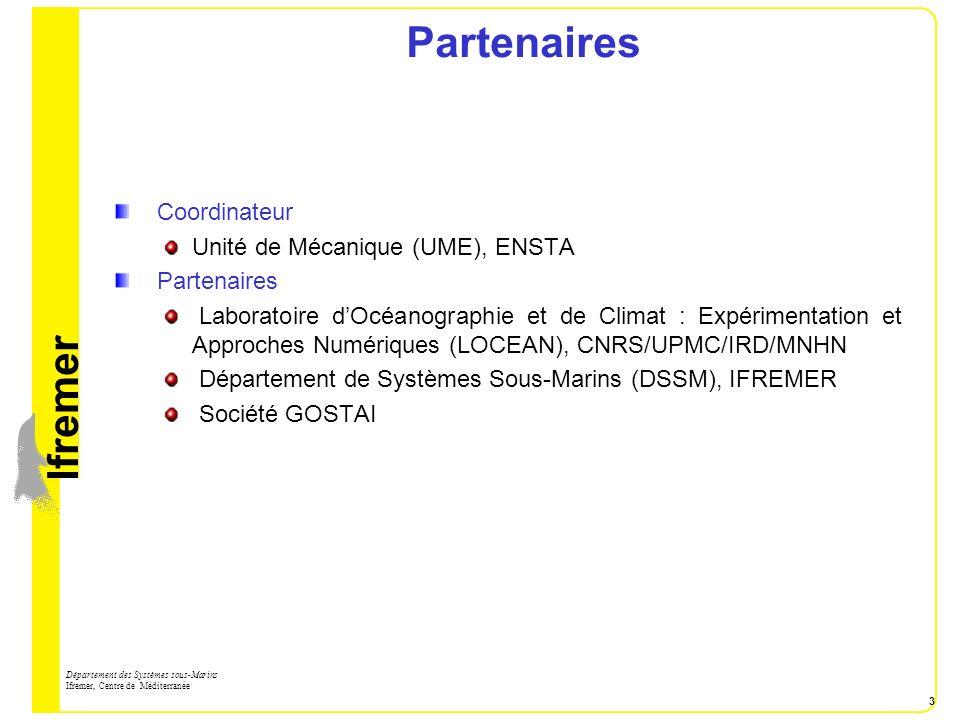 Partenaires Coordinateur Unité de Mécanique (UME), ENSTA Partenaires