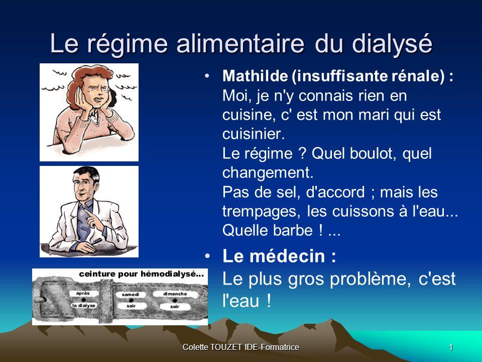 Le régime alimentaire du dialysé