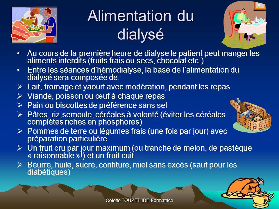 Alimentation du dialysé