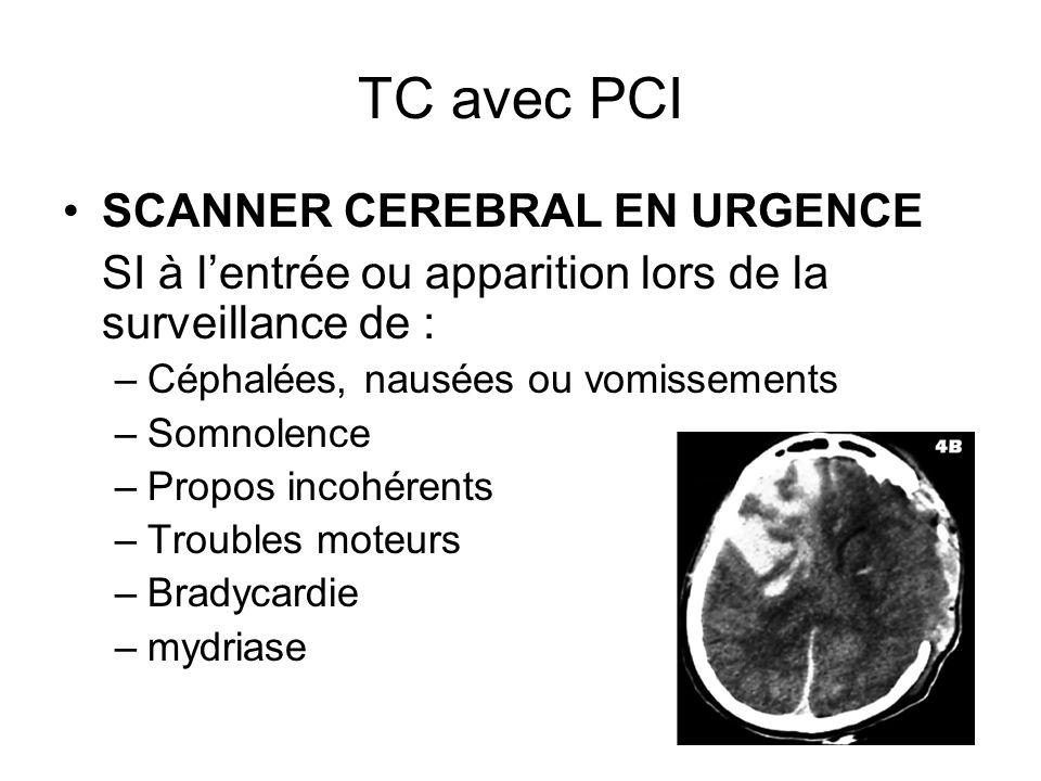 TC avec PCI SCANNER CEREBRAL EN URGENCE
