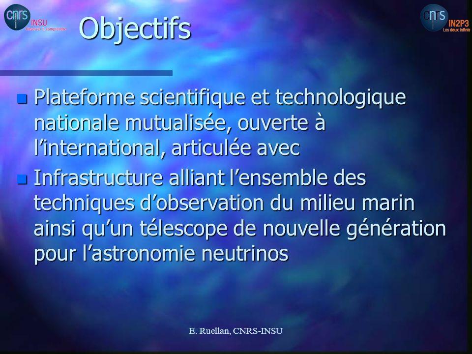 ObjectifsPlateforme scientifique et technologique nationale mutualisée, ouverte à l'international, articulée avec.