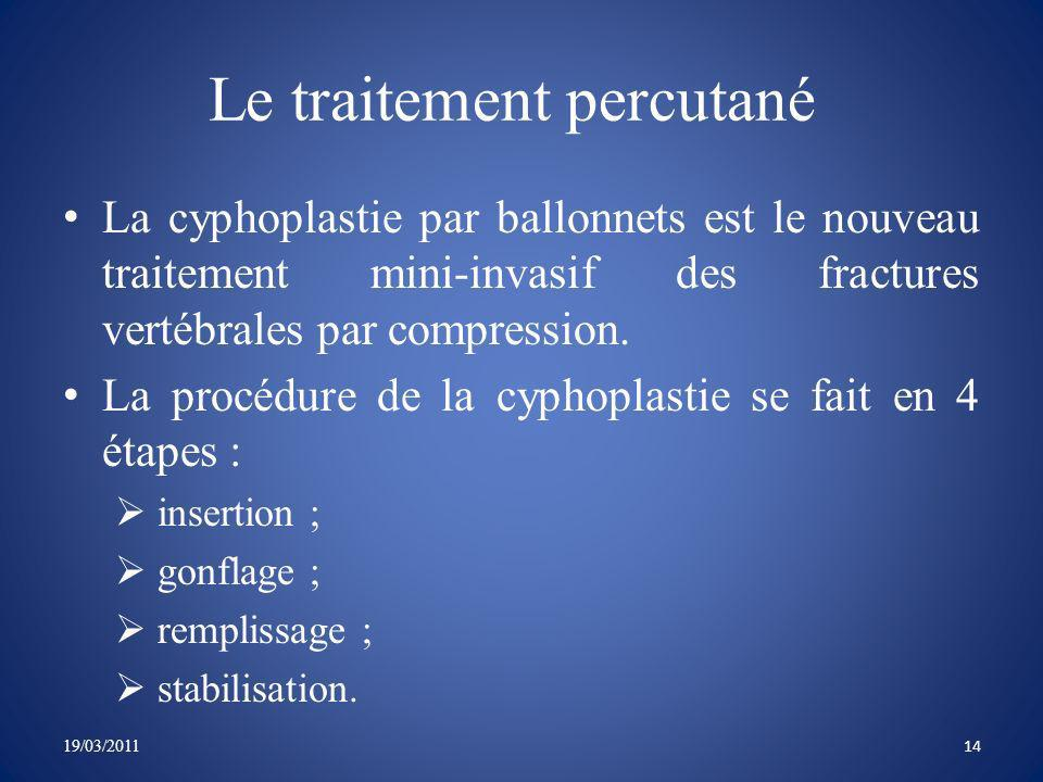 Le traitement percutané