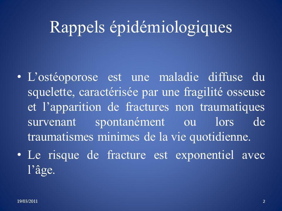Rappels épidémiologiques