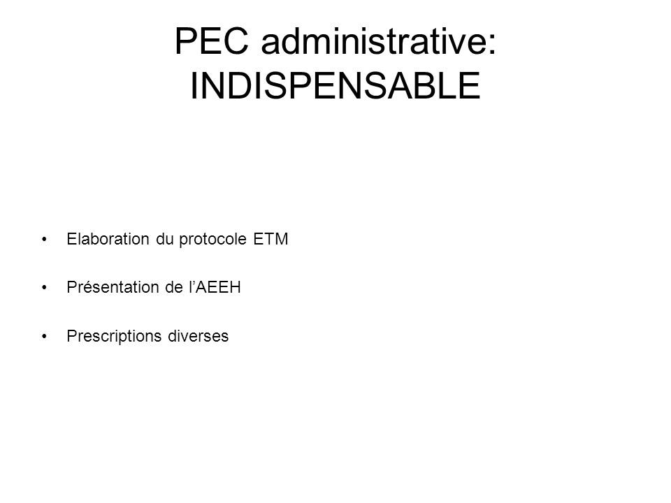 PEC administrative: INDISPENSABLE