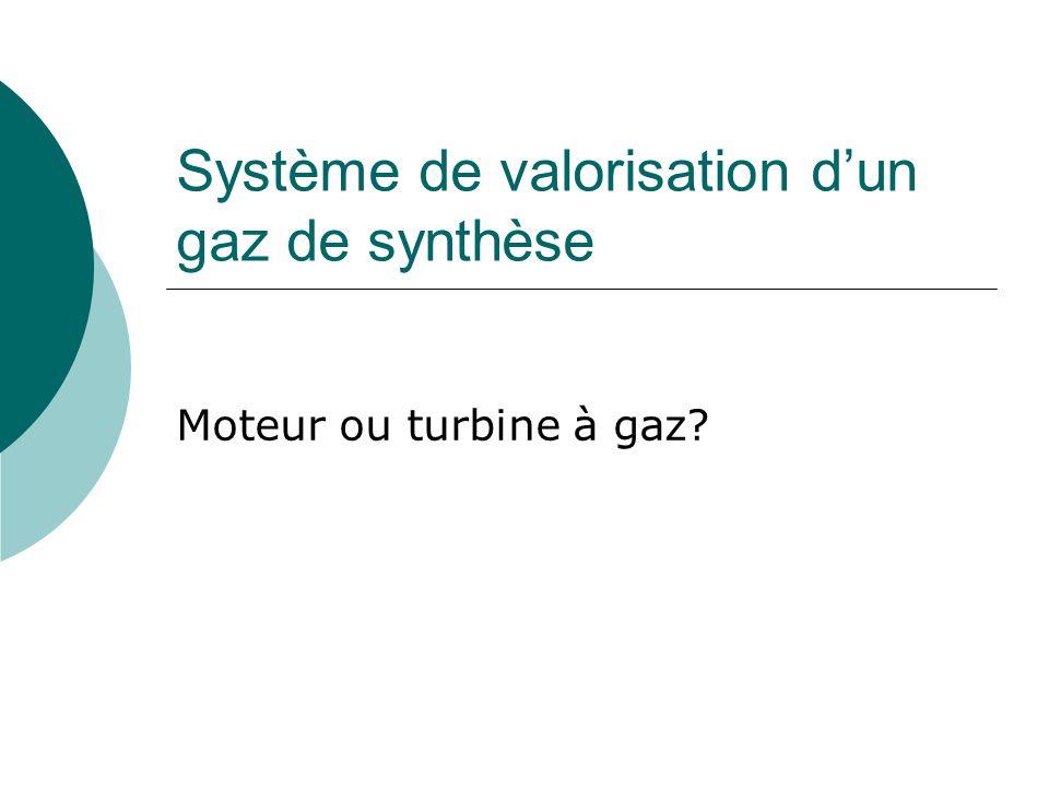 Système de valorisation d'un gaz de synthèse