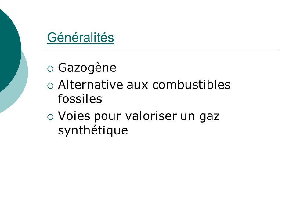 Généralités Gazogène Alternative aux combustibles fossiles