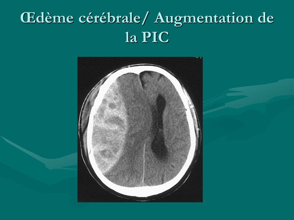 Œdème cérébrale/ Augmentation de la PIC