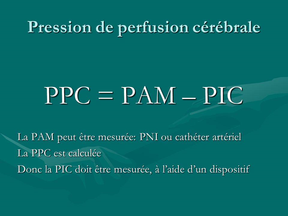 Pression de perfusion cérébrale