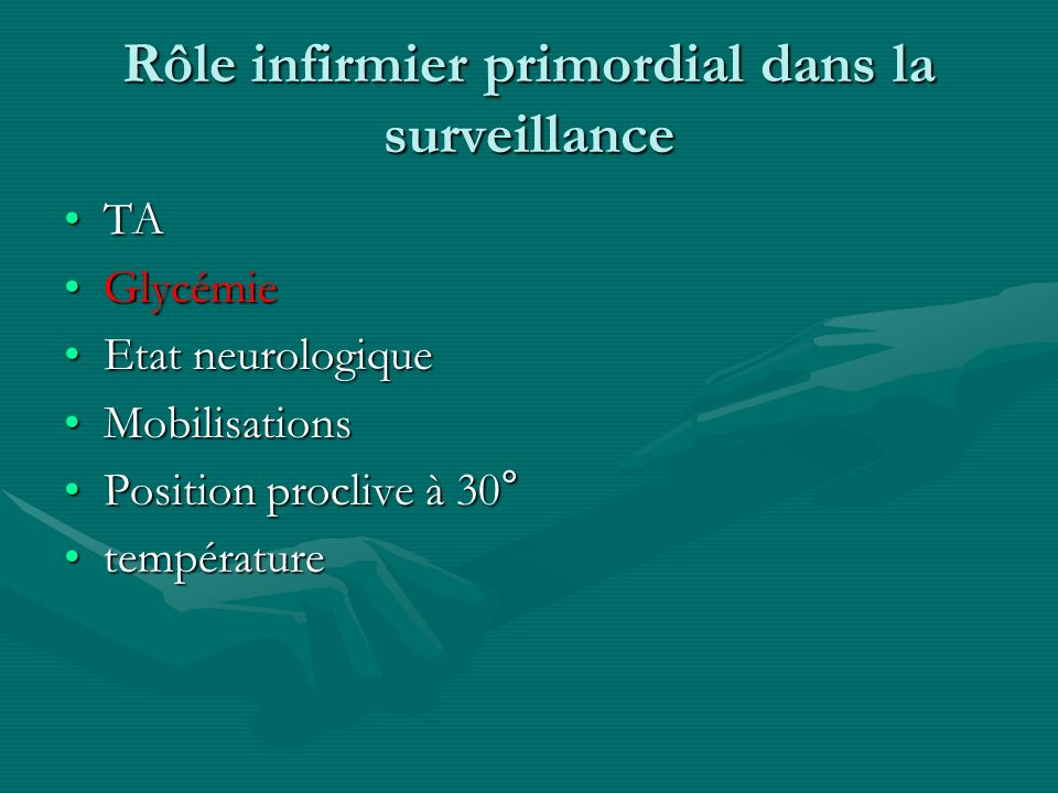Rôle infirmier primordial dans la surveillance