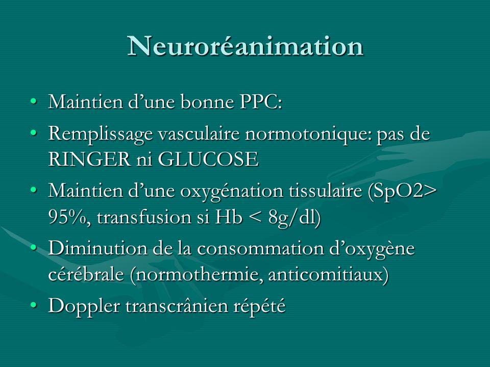 Neuroréanimation Maintien d'une bonne PPC: