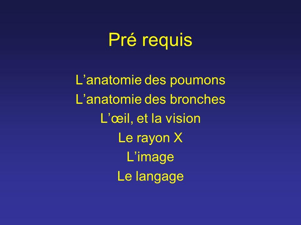 Pré requis L'anatomie des poumons L'anatomie des bronches