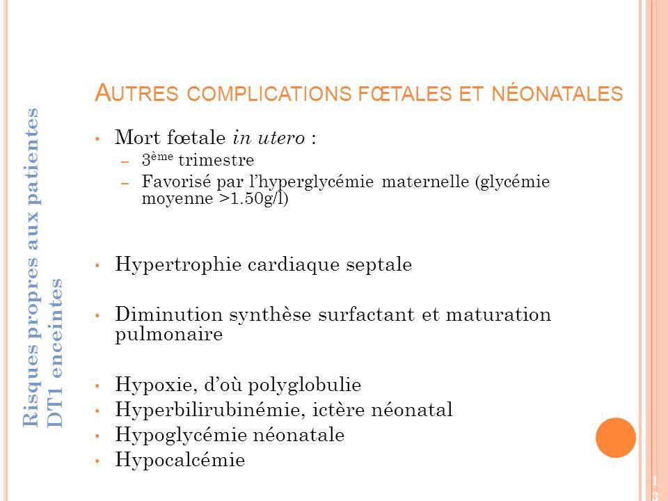 Autres complications fœtales et néonatales