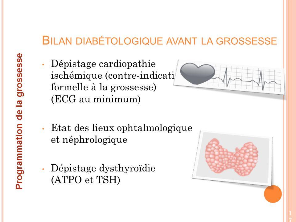 Bilan diabétologique avant la grossesse