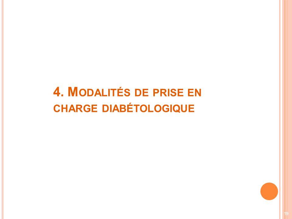 4. Modalités de prise en charge diabétologique