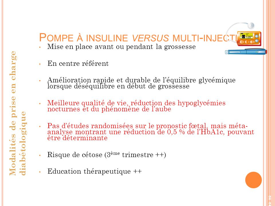 Pompe à insuline versus multi-injections