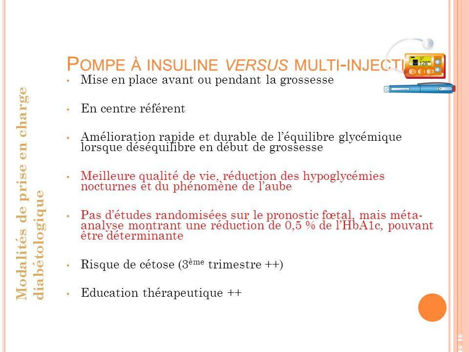 Pompe à insuline versus multi-injections