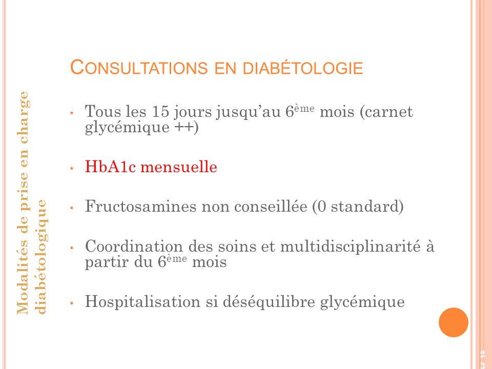 Consultations en diabétologie
