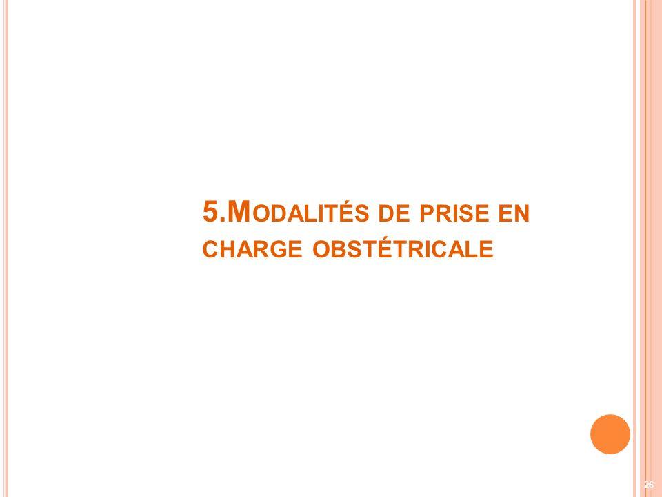 5.Modalités de prise en charge obstétricale