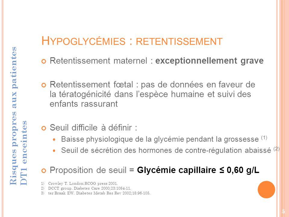 Hypoglycémies : retentissement