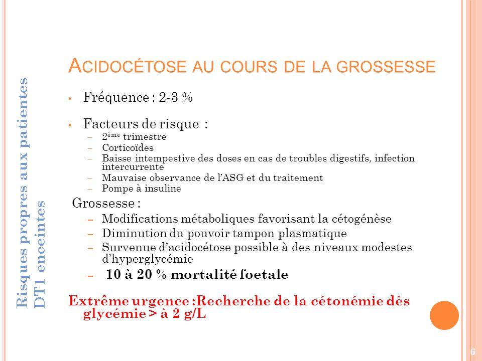 Acidocétose au cours de la grossesse