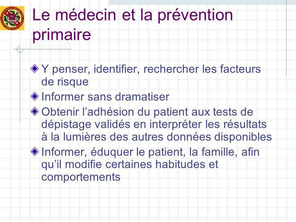 Le médecin et la prévention primaire