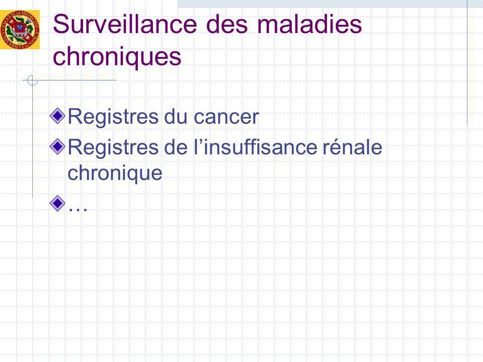 Surveillance des maladies chroniques