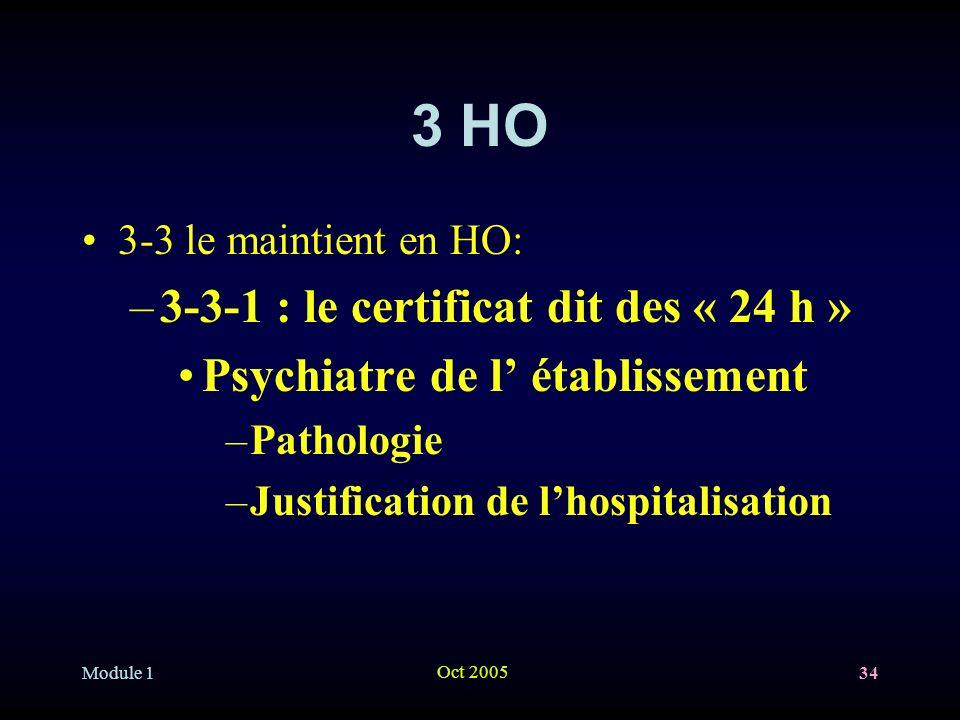 3 HO 3-3-1 : le certificat dit des « 24 h »