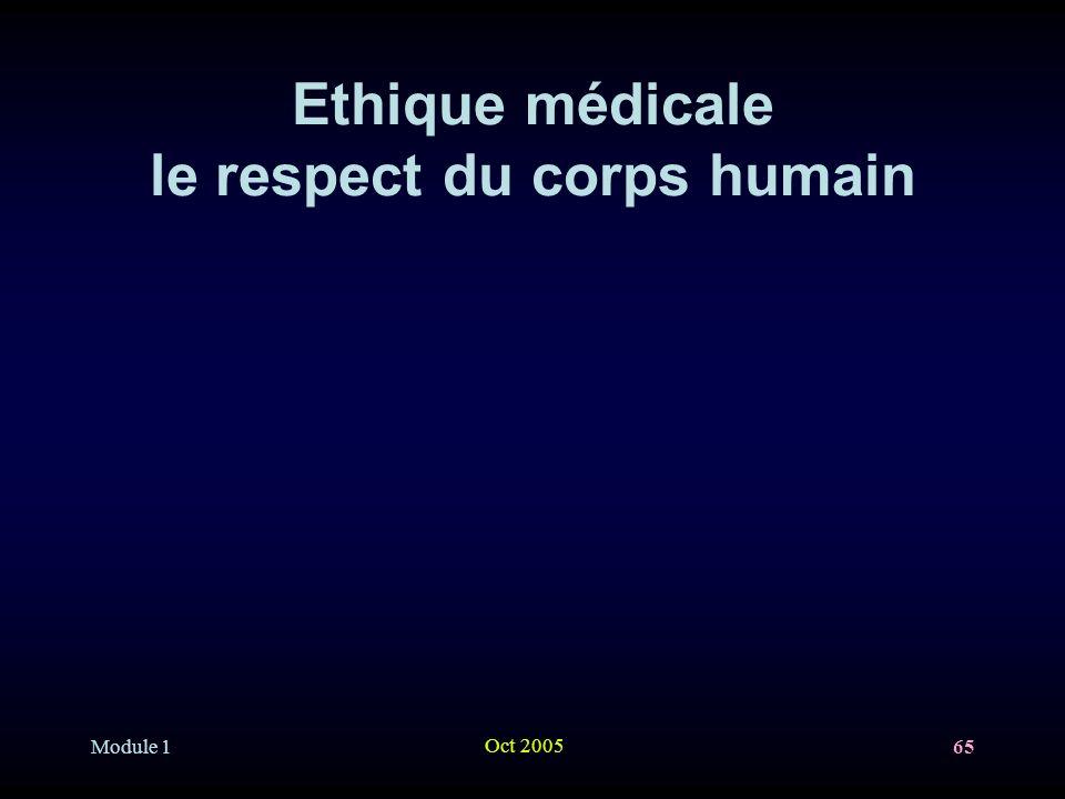 Ethique médicale le respect du corps humain