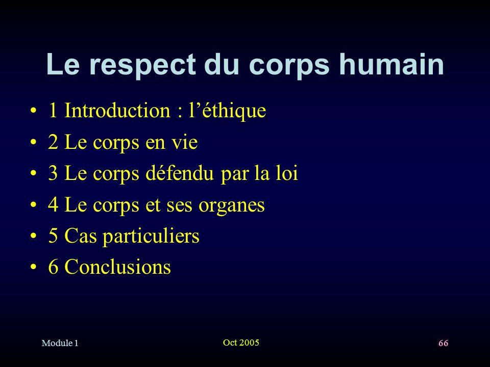 Le respect du corps humain