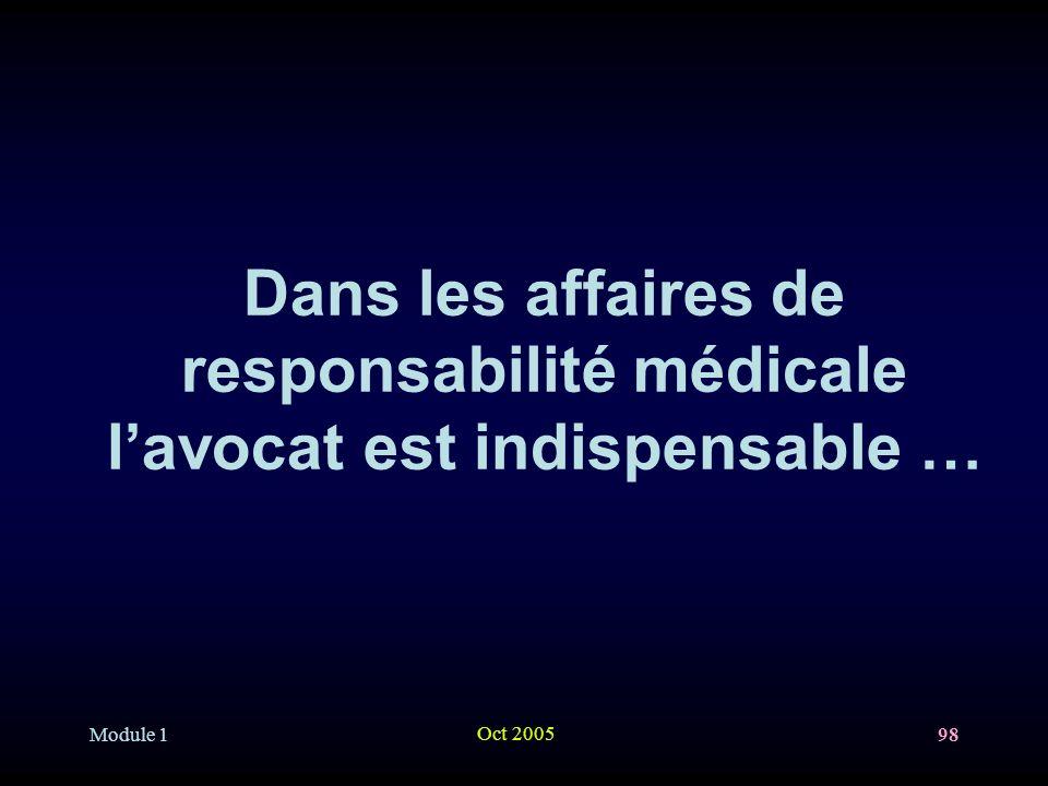 Dans les affaires de responsabilité médicale l'avocat est indispensable …