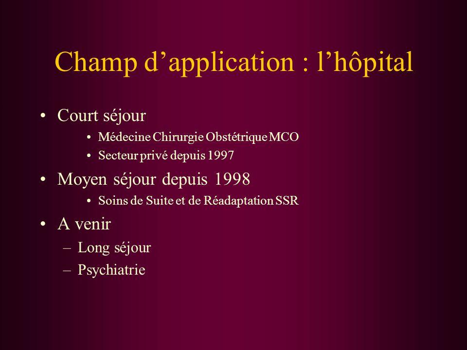 Champ d'application : l'hôpital