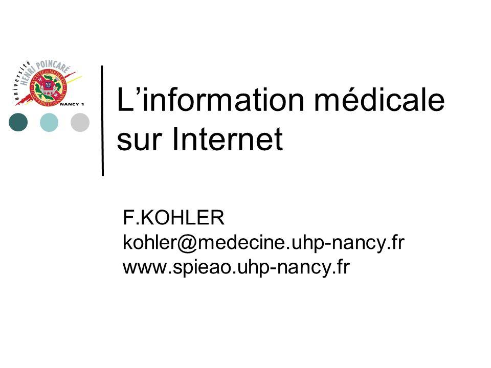 L'information médicale sur Internet