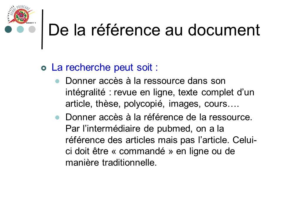 De la référence au document