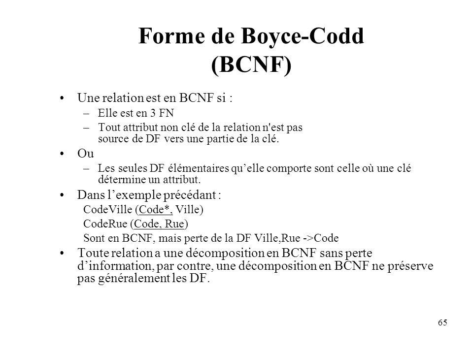Forme de Boyce-Codd (BCNF)