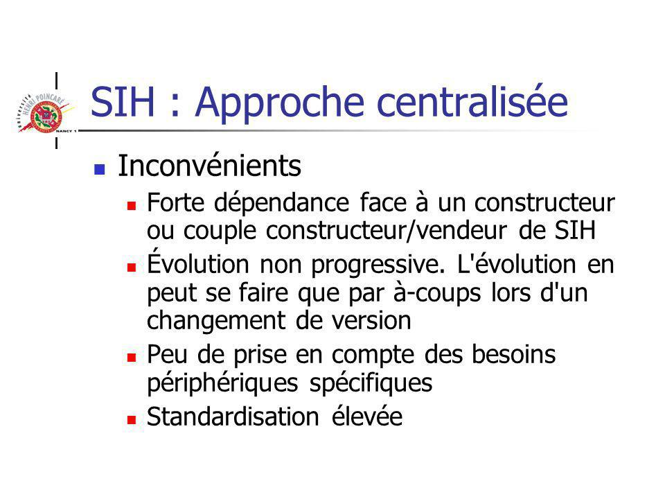 SIH : Approche centralisée