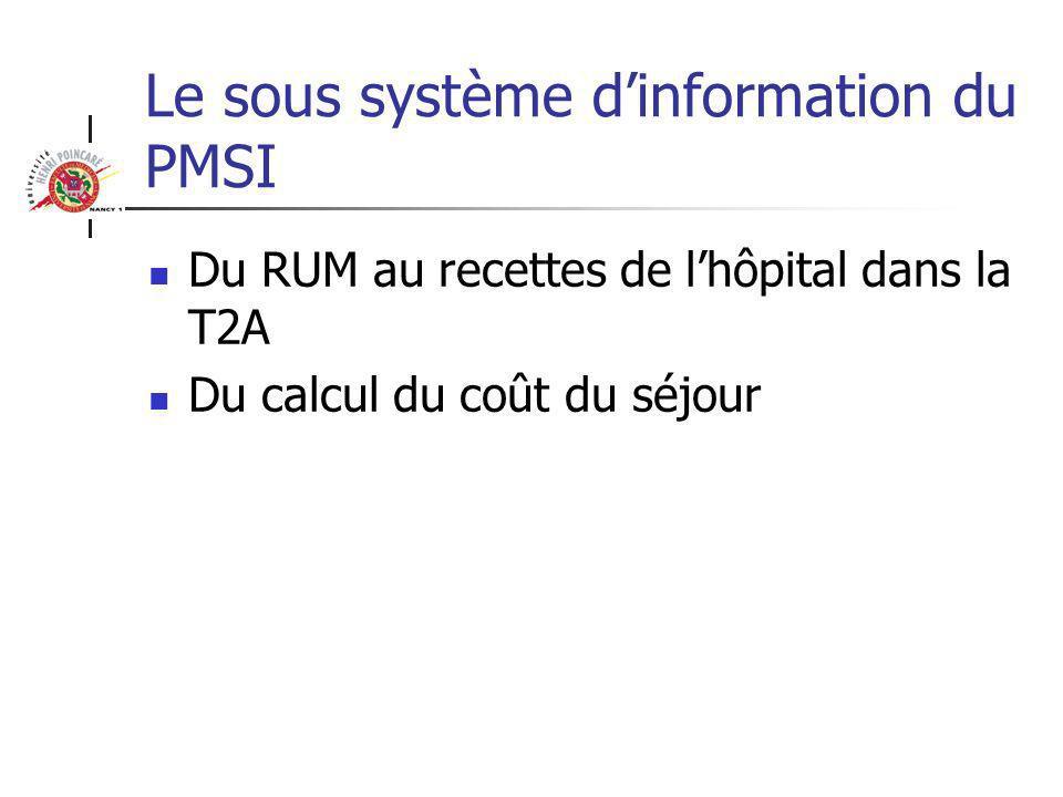 Le sous système d'information du PMSI